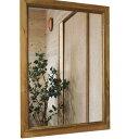 ミラー 木製枠 アンティークブラウン w50d2h70cm 壁掛け 木製 ひのき オーダーメイド