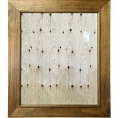 ミラー太枠鏡吊り下げ金具70×2×80cmアンティークブラウン木製ひのきハンドメイドオーダーメイド