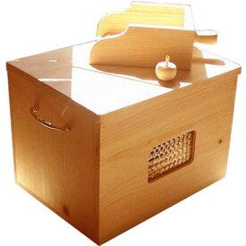 カンナチップ3kg&専用木製ボックス&スコップセット ナチュラル 徳島県神山町産 ひのき オーダーメイド 1542638