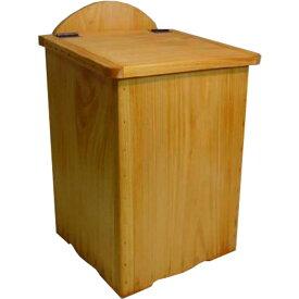 ミニダストボックス ふた付き ナチュラル w23d23h37cm ひのき 木製 オーダーメイド