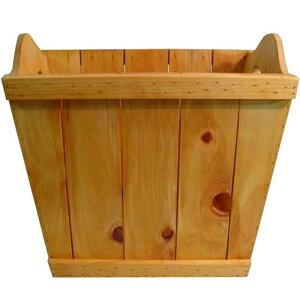 ウッドバスケット ワイド版 ハート 木箱 ナチュラル 39×29×33cm 木製 ひのき ハンドメイド オーダーメイド 1542638