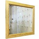 早め発送スクエアミラー木製鏡ナチュラル50×2×50cmウォールミラー木製ひのきハンドメイド