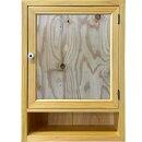 ミラーキャビネット背板つきナチュラル35×15×49cm木製ひのきハンドメイドオーダーメイド