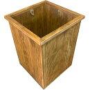 ダストボックス留め具付きアンティークブラウンw27d27h40cmごみ箱木製ひのきハンドメイドオーダーメイド