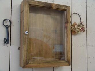 古董布朗-(25 × 7 × 31 釐米) 透明玻璃牆裝載顯示案例在剪貼簿 !