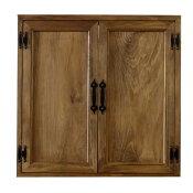 カフェ窓室内窓採光窓木製扉木製ひのき60×15×60cm両面仕様アイアン取っ手つき北欧アンティークブラウン