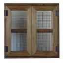 室内窓 採光窓 フランス製チェッカーガラス アンティークブラウン 木製 ひのき 50×50cm 扉厚み3cm マグネット仕様 アンティークブラウ…