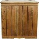 ダストボックスカバー ゴミ箱カバー ごみ分別 ワイドストッカー アンティークブラウン 60×39×60cm 木製 ひのき ハンドメイド オーダ…