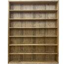 キャビネットアンティークブラウン95×14×115cm七段壁掛け木製ひのきハンドメイドオーダーメイド