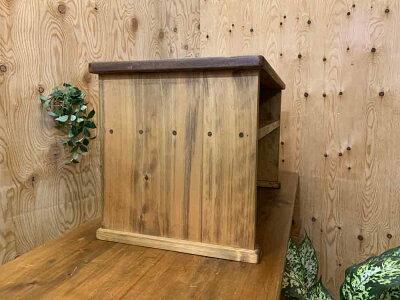 机棚付きアンティークブラウンw65d33h35cmローテーブル文机昭和レトロ木製国産ひのきハンドメイドオーダーメイド