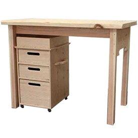 テーブル&インサイドワゴン 無塗装白木 95.5×53×72cm 自然木 アンティーク風 木製 ひのき オーダーメイド