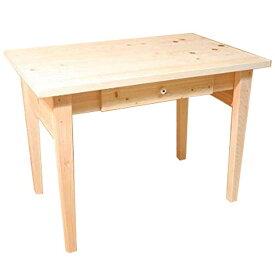 学習机 引き出し付き 無塗装白木 w98d62h71cm learning desk 勉強机 北欧 木製 ひのき オーダーメイド