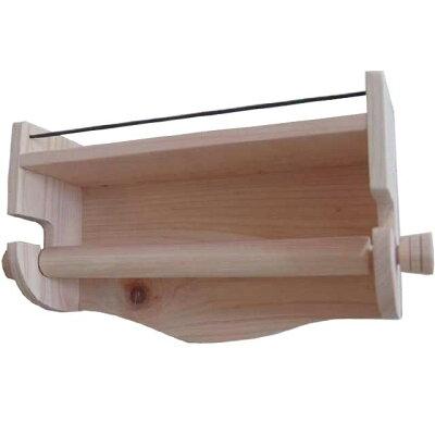 無塗装白木◇アイアンシェルフのダブルトイレットペーパーホルダー