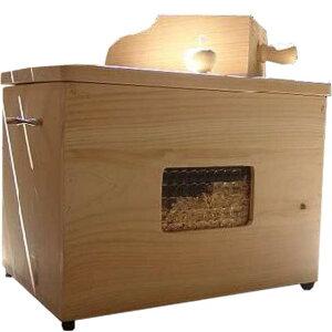 カンナチップ3kg&専用木製ボックス&スコップセット 無塗装白木 徳島県神山町産 ひのき オーダーメイド 1603335