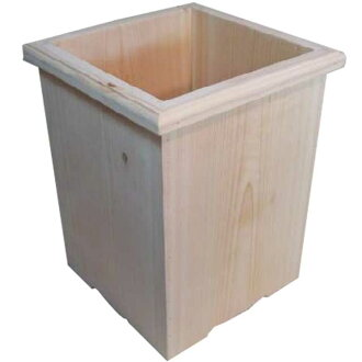 Unpainted wood-white cedar wood natural dust box ☆ Recycle Bin
