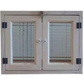 無塗装白木 チェッカーガラスのキャビネット(ニッチ用埋め込みタイプ)開閉クリット仕様 オーダーメイド 1220163 1213019