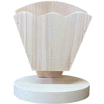 クレープスタンド無塗装白木10×7×12.5cmシングル文字なし木製ひのきハンドメイドオーダーメイド