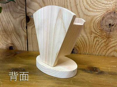 クレープスタンド無塗装白木10×7×12.5cmシングル文字あり木製ひのきハンドメイドオーダーメイド