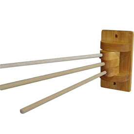 ふきんかけ シンプル w8d33h16cm ナチュラル 3本タイプ タオルハンガー キッチンハンガー ディッシュクロス 木製 ひのき オーダーメイド