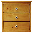 三段小引出し 木製 ひのき ナチュラル ミニチェスト 卓上ドロワー 三段 30×29×30cm 受注製作