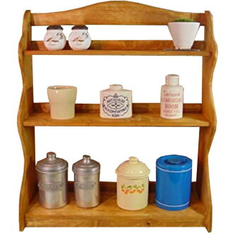 Natural-wood three-rack-Spice rack-wooden storage shelves