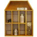 シェルフ ドールハウス型 コレクションシェルフ 飾り棚 木製 ひのき ナチュラル 受注製作
