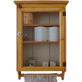 トイレットペーパーキャビネット チェッカーガラス ナチュラル w41d15h63cm タオルハンガーつき 木製 ヒノキ オーダーメイド