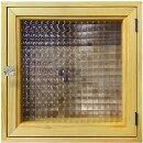 インターホンカバーナチュラル30×6×30cm内側蝶番チェッカーガラスパンプキンノブ木製ひのきハンドメイドオーダーメイド