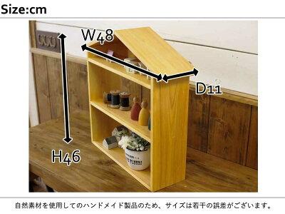ドールハウスラックナチュラルw48d11h46cmコレクションシェルフ三段木製ひのきハンドメイドオーダーメイド