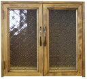 ペットのお仏壇 フローラガラス扉 台座付き アンティークブラウン 木製 ひのき ハンドメイド オーダーメイド 1220163 1213019