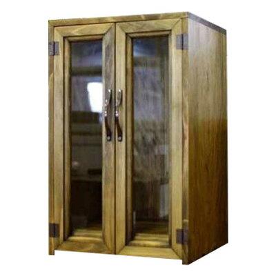 ペットのお仏壇メモリアルハウス木製ひのき台座付き透明ガラス扉ペット用仏壇(アンティークブラウン)