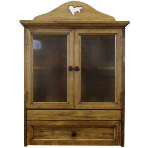 ペットのお仏壇 ミニチュアダックス 木製つまみ 可動棚 スライド棚 引き出し アンティークブラウン 46x26x53cm 木製 ひのき ハンドメイド オーダーメイド 1642947