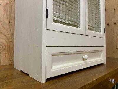 ペットのお仏壇ジャックラッセルテリアアンティークホワイト49x29x60cm木製取っ手スライド棚引出しくり抜きボード木製ひのきハンドメイドオーダーメイド