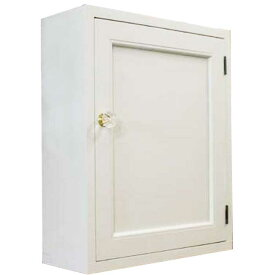 トイレットペーパーキャビネット 木製扉 アンティークホワイト w38d14h46cm 背板なし 木製 ひのき オーダーメイド