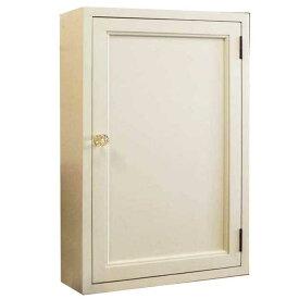 トイレットペーパーキャビネット パンプキンノブ アンティークホワイト w40d15h60cm 背板つき 木製 ひのき オーダーメイド 1134626
