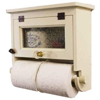 Angels Dust Double Toilet Paper Holder Wooden Hinoki Flora Glass