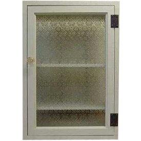 アンティークホワイト フローラガラスのトイレットペーパーキャビネット(38×55cm) パンプキンノブ・マグネット仕様(ニッチ用埋め込みタイプ) オーダーメイド 1134626