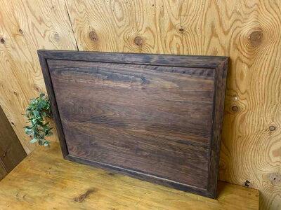 ウッドボードダークブラウン80×1.5×60cmディスプレイボード木製ひのきハンドメイドオーダーメイド