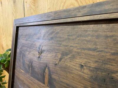 フレーム入れ替えが出来るダークブラウン75×2×55cm木製ひのきハンドメイドオーダーメイド