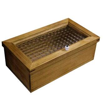 配套案例木制柏树法国检查玻璃置物箱珠宝箱古董布朗取得 28 x 16 x 10 厘米