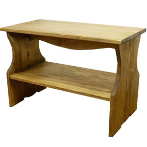 ベンチシェルフ 棚付き アンティークブラウン w60d30h40cm 木製 ひのき オーダーメイド 1361898