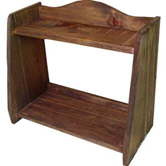 Antique brown ◇ wooden mini-spice rack ☆ storing shelf