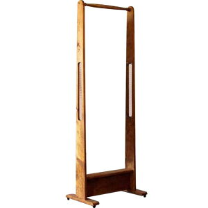 ハンガーラック チェッカーガラス アンティークブラウン w50d33h140cm シンプル 木製 ひのき オーダーメイド 1354963