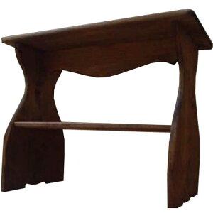 シェルフ 置き型 アンティークブラウン w46d25h36cm 木製 下段収納 ベンチタイプ 木製 ひのき オーダーメイド 1380051