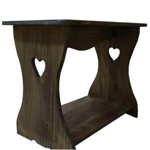 シェルフ 置き型 アンティークブラウン w46d25h36cm ベンチタイプ 木製 ひのき オーダーメイド 1361898