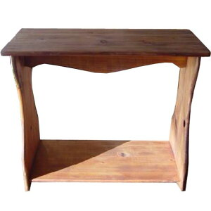シェルフ 置き型 アンティークブラウン w53d25h44cm ベンチタイプ 木製 ひのき オーダーメイド 1380051