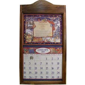 カレンダーフレーム アンティークブラウン w38.5d2.5h73cm 木製 ひのき ハンドメイド オーダーメイド 1473665