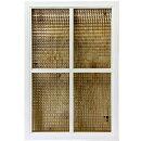 室内窓チェッカーガラス両面十字桟ホワイトステイン70×2.5×50cm木製ひのきハンドメイドオーダーメイド