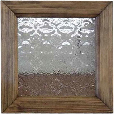 アンティークブラウン◇フローラガラスのガラスフレーム(20×20cm)◇北欧