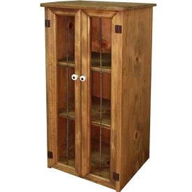 キャビネット アンティークブラウン w30d28h30cm アイアン スリムキャビネット 三段 木製 ひのき オーダーメイド 1134626
